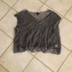 Eileen Fisher sheer sweater XL